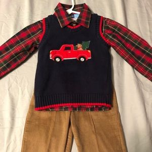 Size 2t boys Christmas outfit
